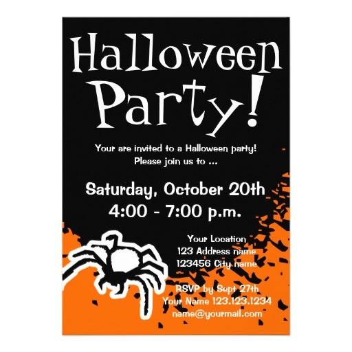 halloween party invitations custom invites 161608760883609226