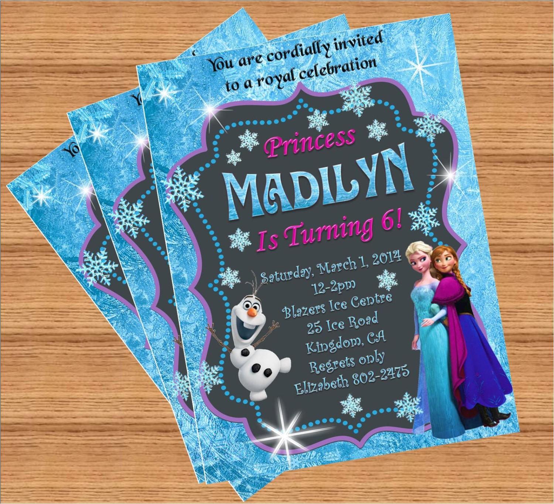 Custom Invitations Birthday Frozen Birthday Invitation Custom Invitation
