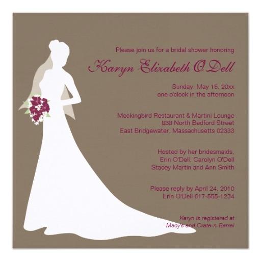 bridal shower invitations custom