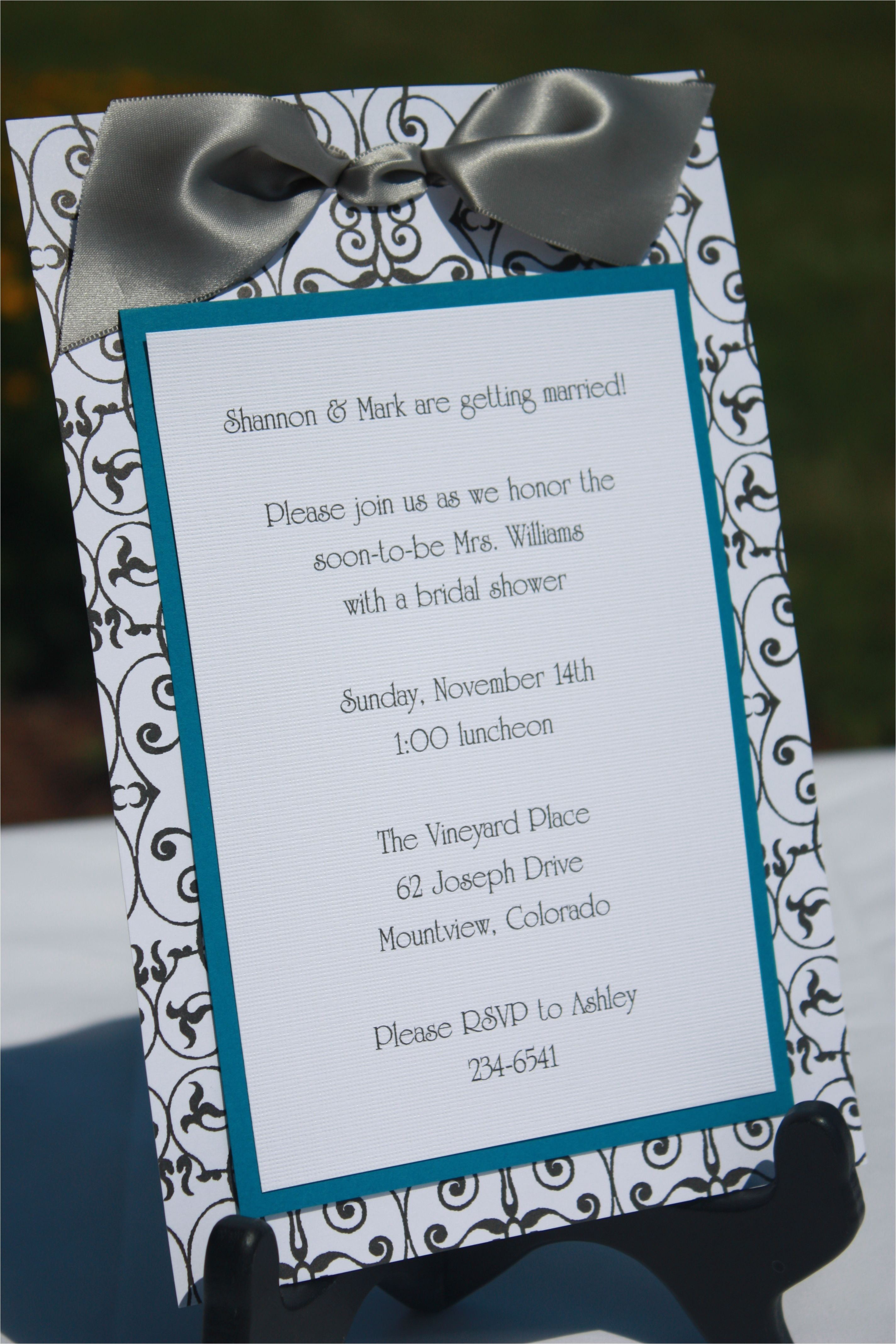 Custom Made Bridal Shower Invitations Handmade Bridal Shower Invitations