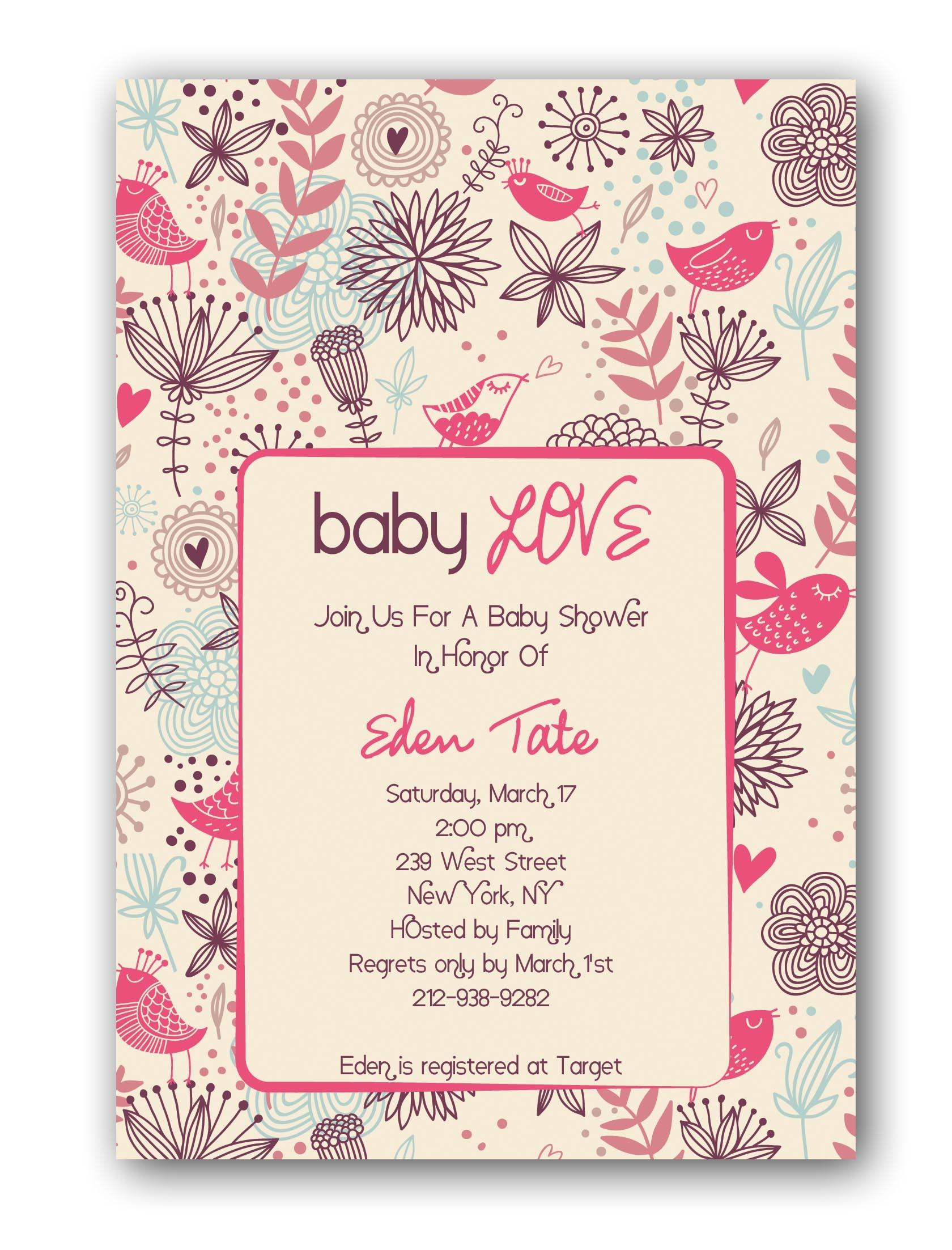 custom baby shower invitations free