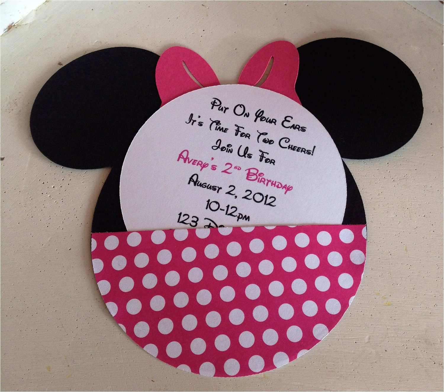 handmade custom hot pink minnie mouse