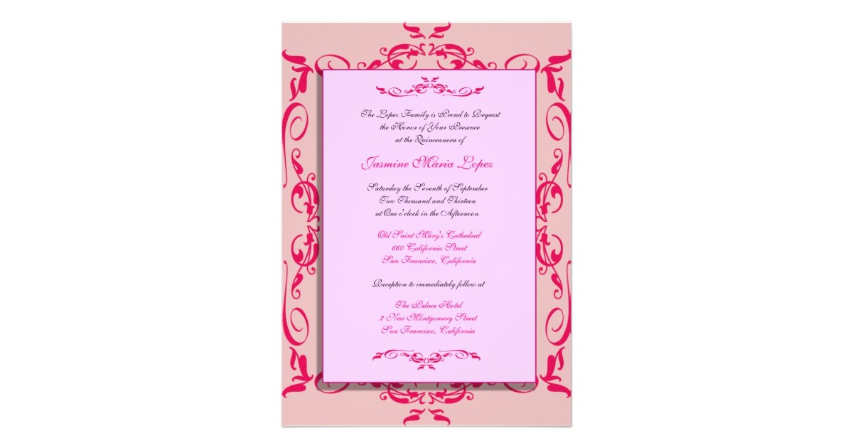 quinceanera custom invitations 161253875810606802