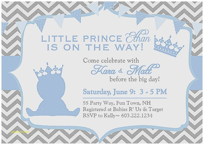 customized baby shower invitations for a boy