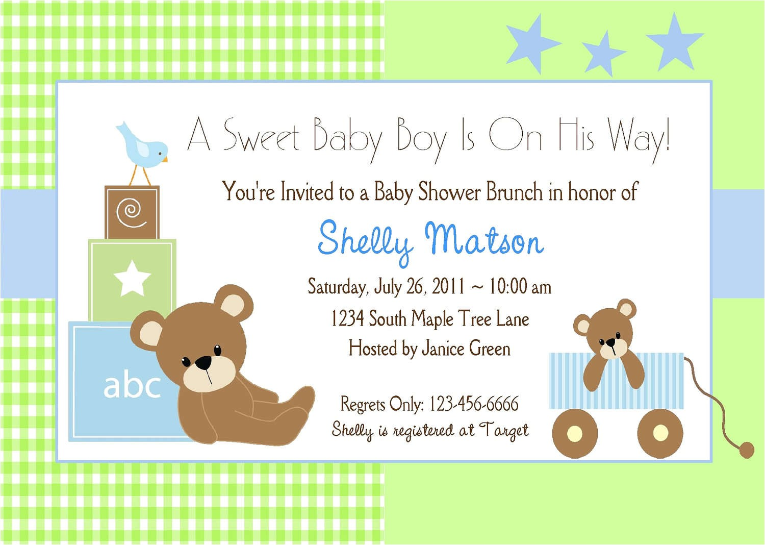 Customized Baby Shower Invitations for A Boy Baby Shower Invitation Wording Lifestyle9