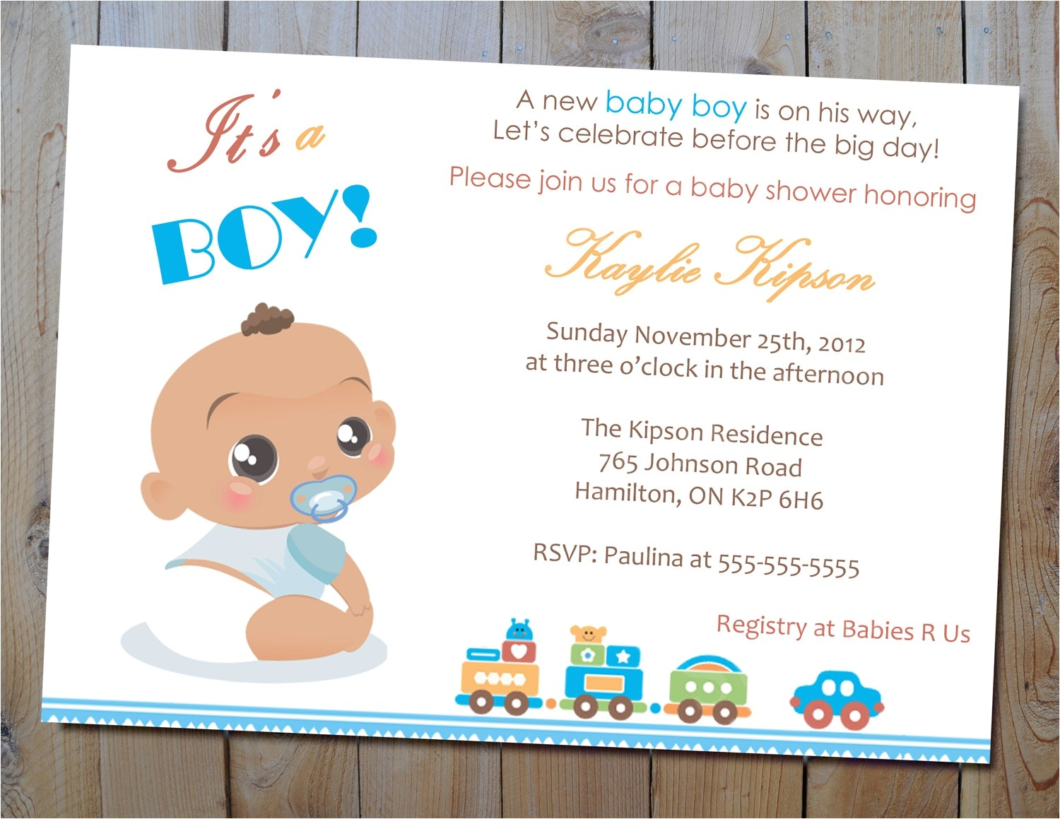 invitations for baby shower boy