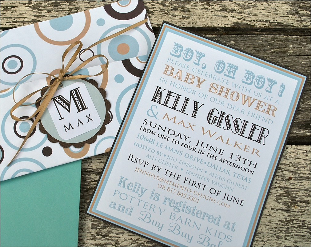 customized baby shower invitations 2