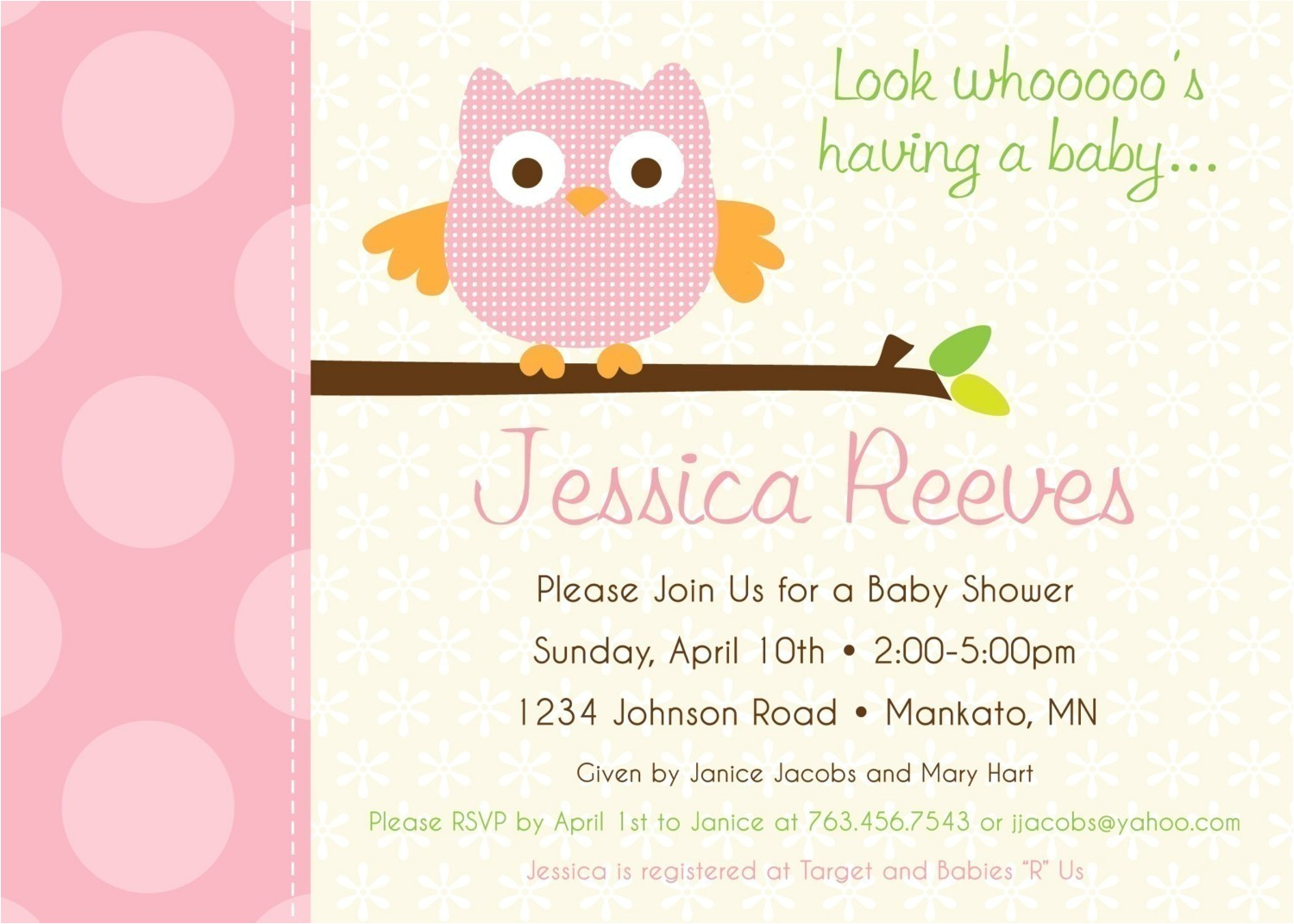 customized baby shower invitations free