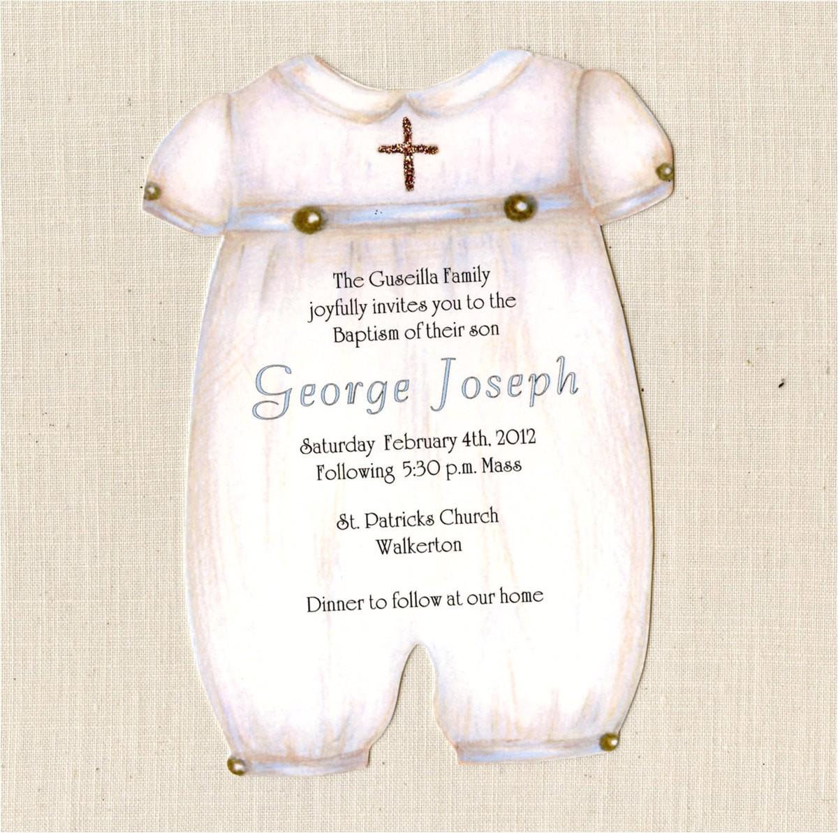 personalized baptism invitations baptism