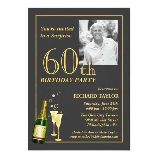 customized 60th birthday party invitations 161416195869148278