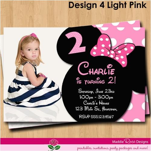 minnie mouse birthday invitations personalized
