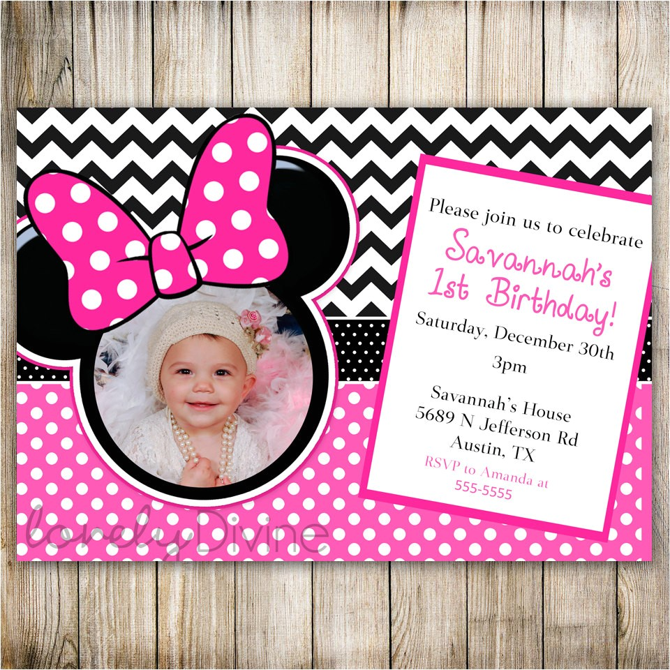 minnie mouse chevron birthday 1st