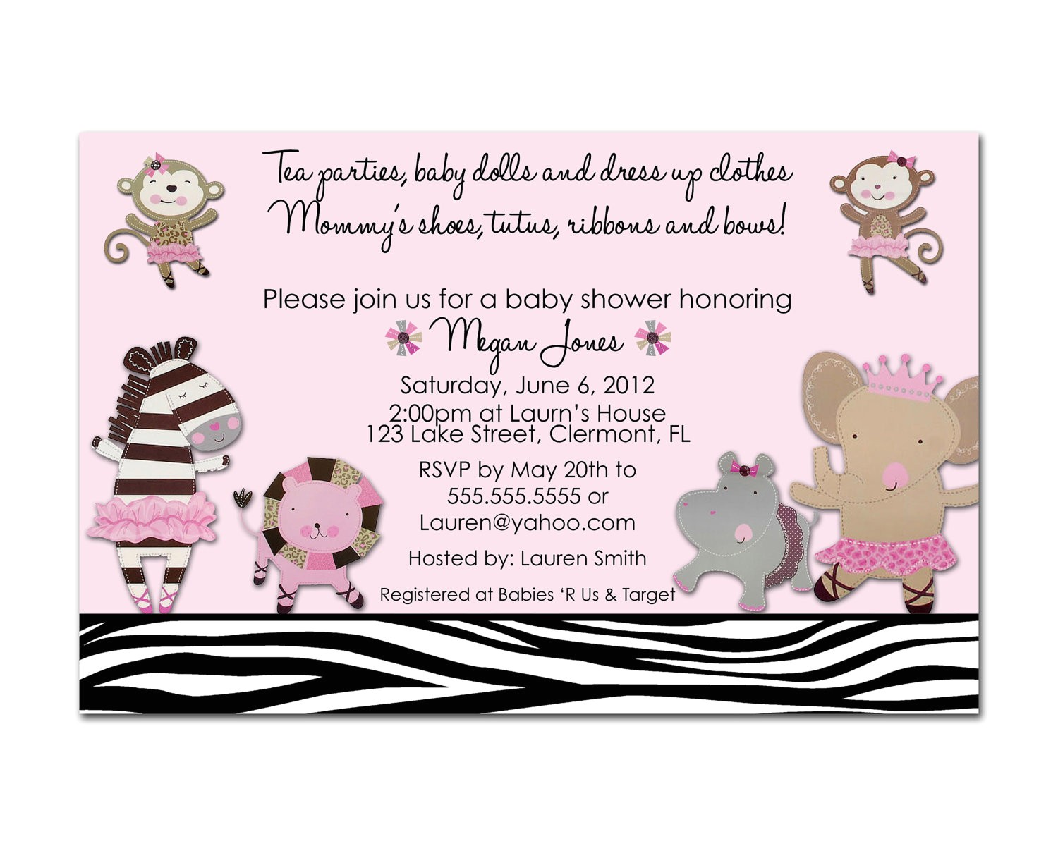 cute baby shower invitations for girls