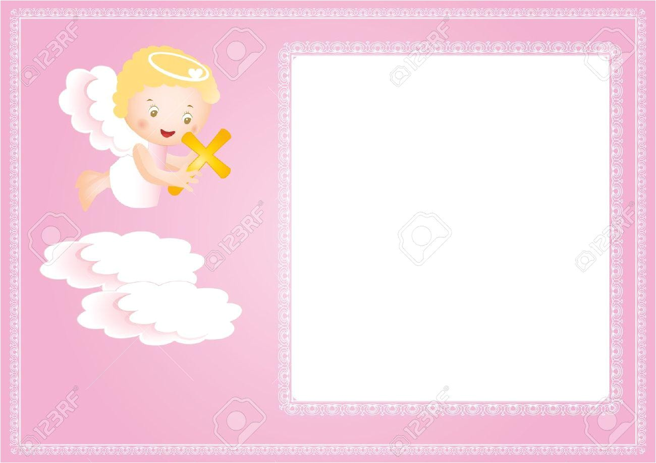 baby girl baptism invitation free templates