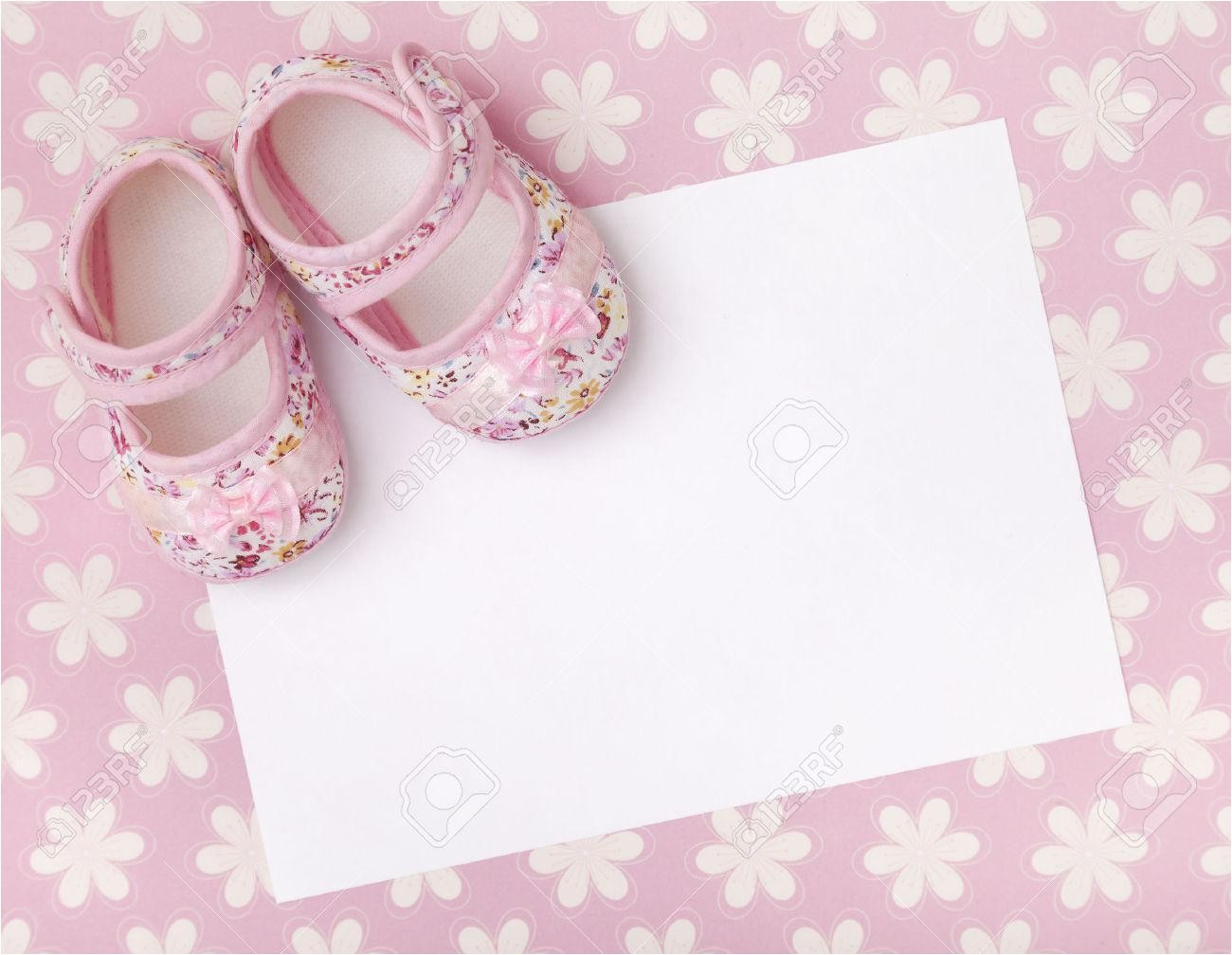 baby girl christening invitation background