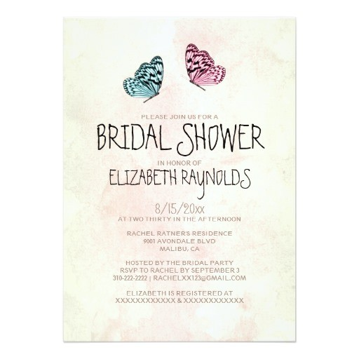 cute butterfly bridal shower invitations 161728510086428674
