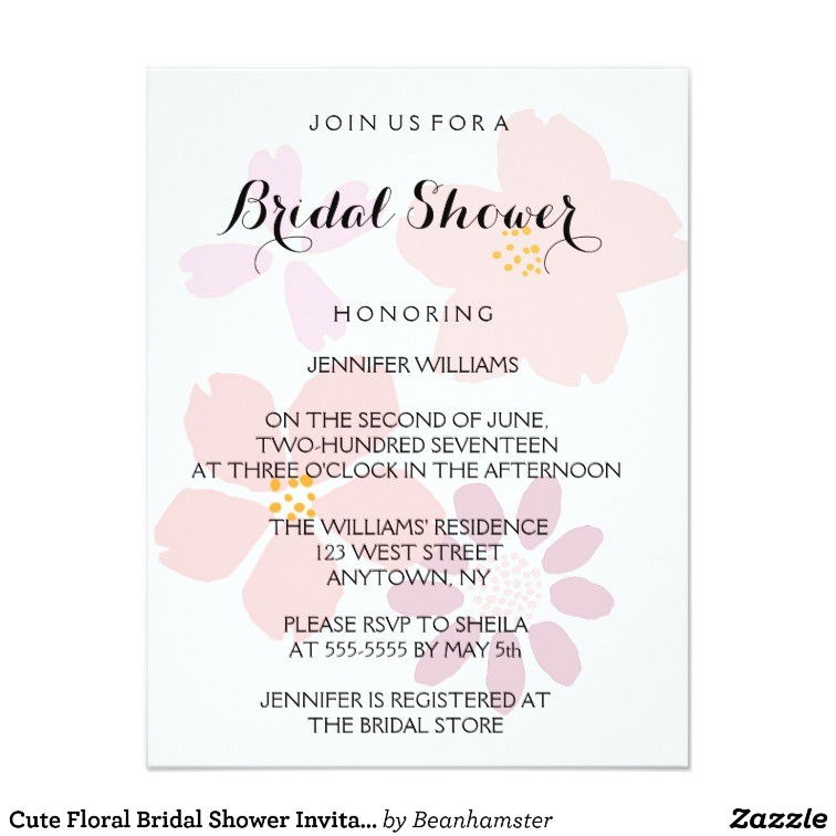 cute floral bridal shower invitations 256248371500509428