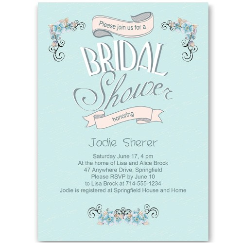 shower invitations bridal