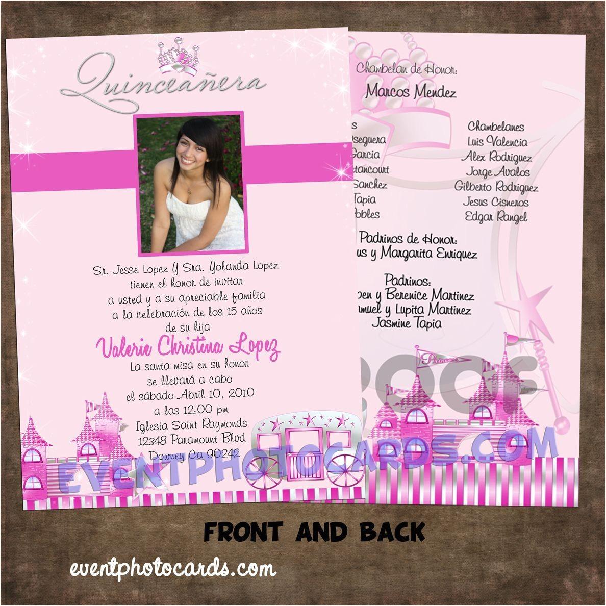 Cute Quinceanera Invitations Princess Beautiful Quinceanera Sweet 16 Invitations