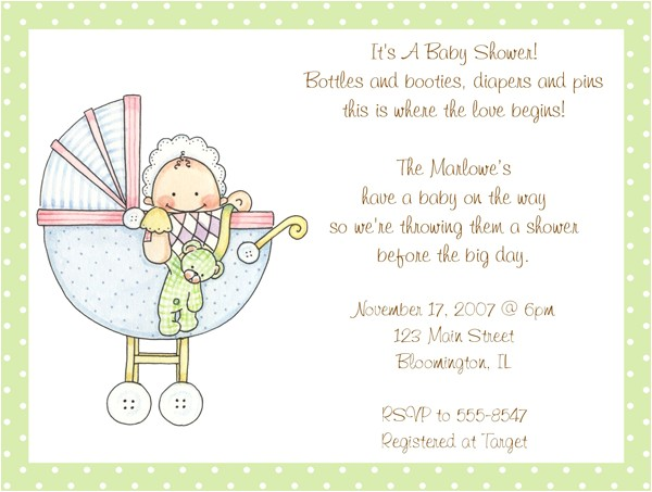 cute wording for baby shower invitations