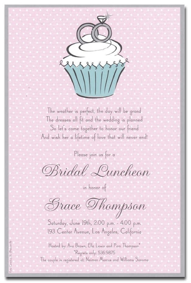 cute bridal shower invitations template