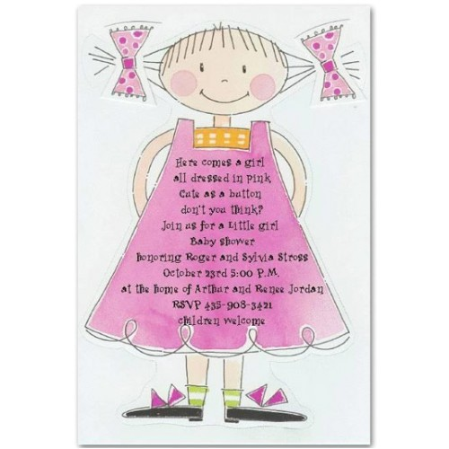 Cutest Girl Baby Shower Invitations Cute Baby Shower Quotes Quotes