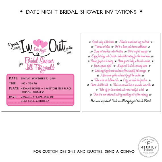 bridal shower invitation date night