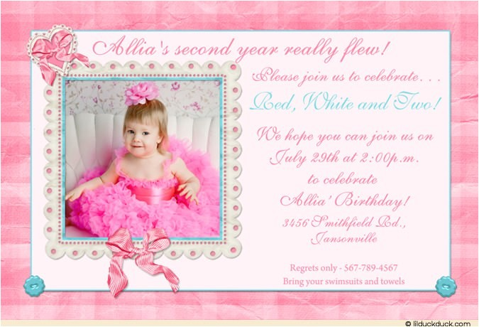 sweet special girls party invitation