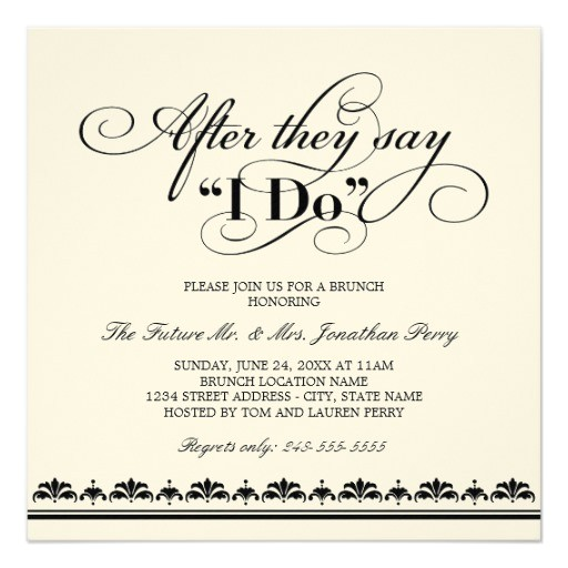Day after Wedding Party Invitations Day after Wedding Brunch Invitation Wedding Vows