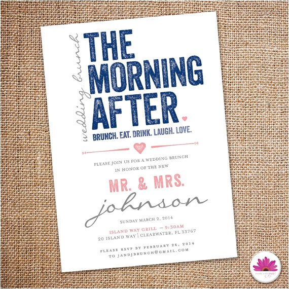 the morning after wedding brunch