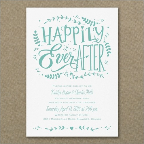 whimsical fairytale wedding invitation sample