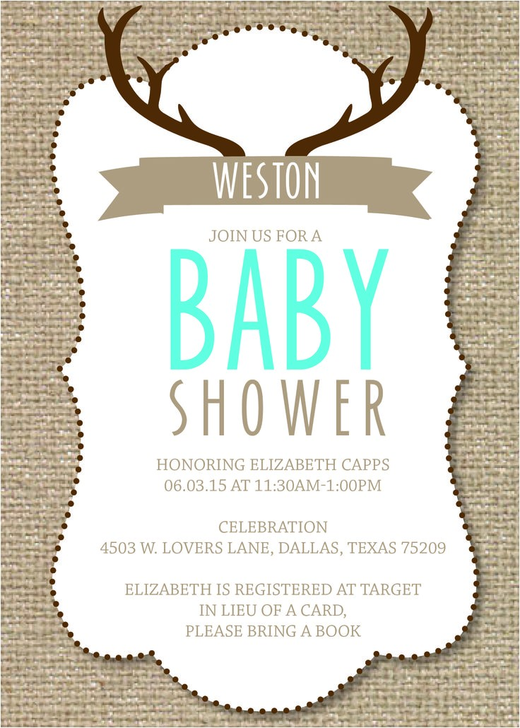 hunting baby showers