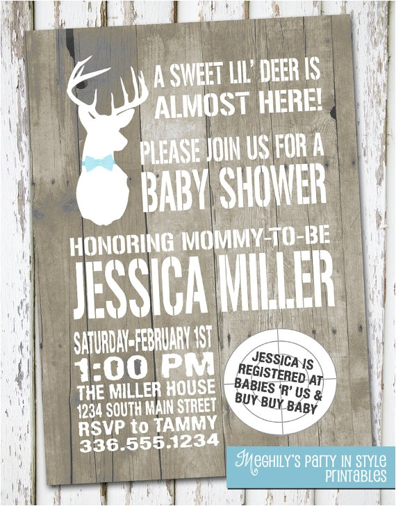 hunting theme sweet lil deer baby shower