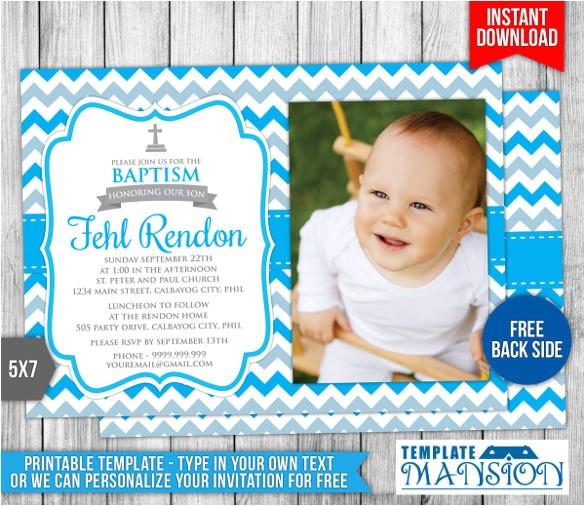 sample baptism invitation
