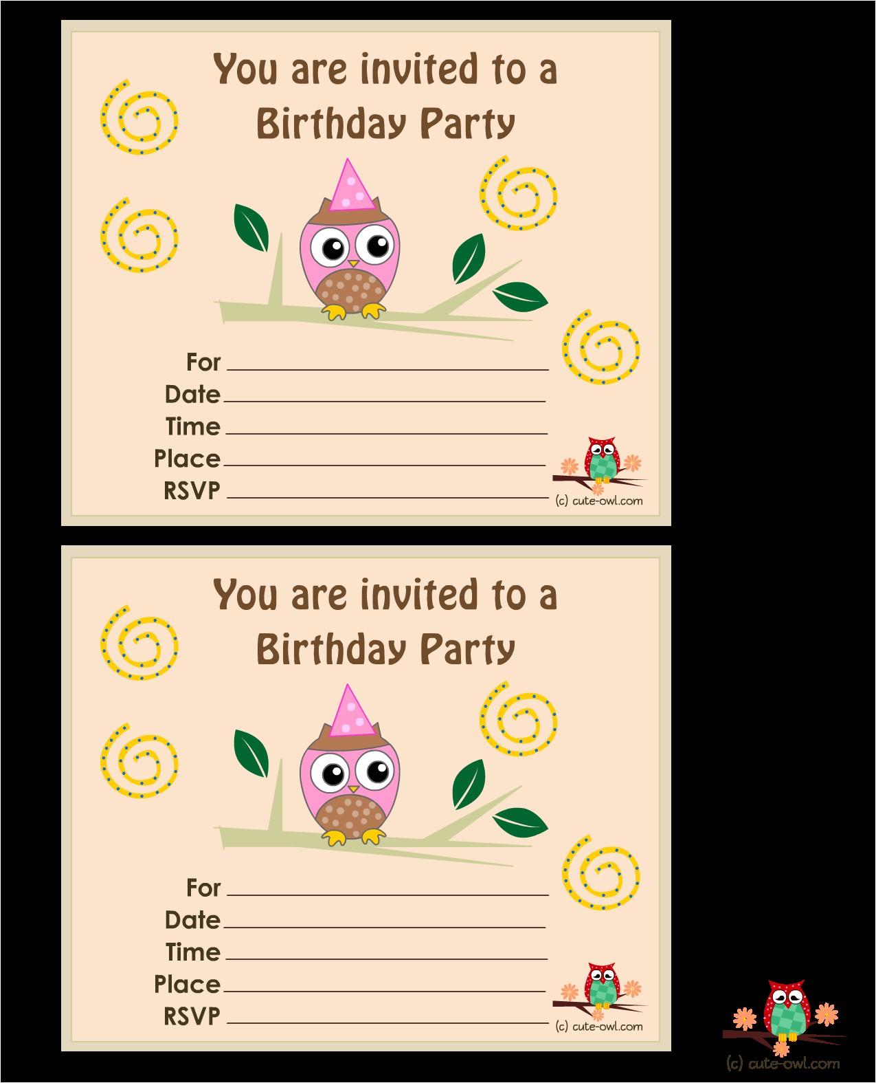 top 8 birthday party invitations printable