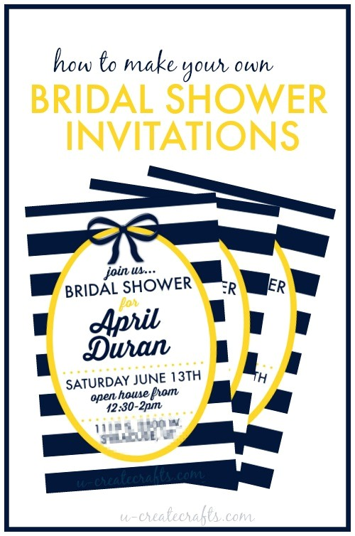 how to make a bridal shower invitation
