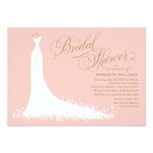 bridal shower invitation elegant wedding gown 161842599901252464