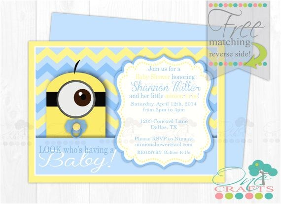 minion baby shower