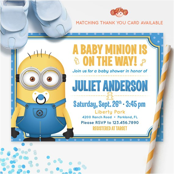 despicable me minions baby shower