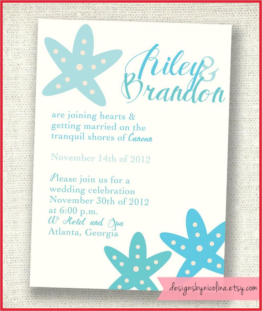 destination wedding bridal shower invitations