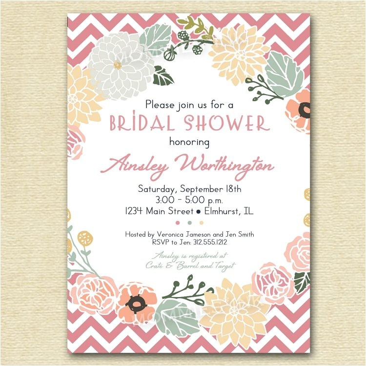 bridal shower wording hosted by