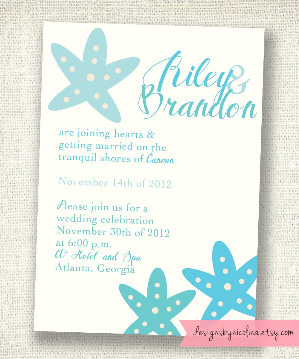 bridal shower invitations destination