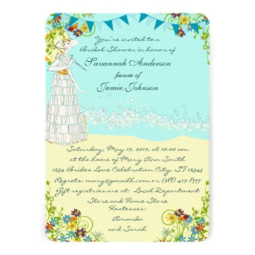 "Destination Wedding Bridal Shower Invitations Destination Wedding Bridal Shower Invitations 5"" X 7"
