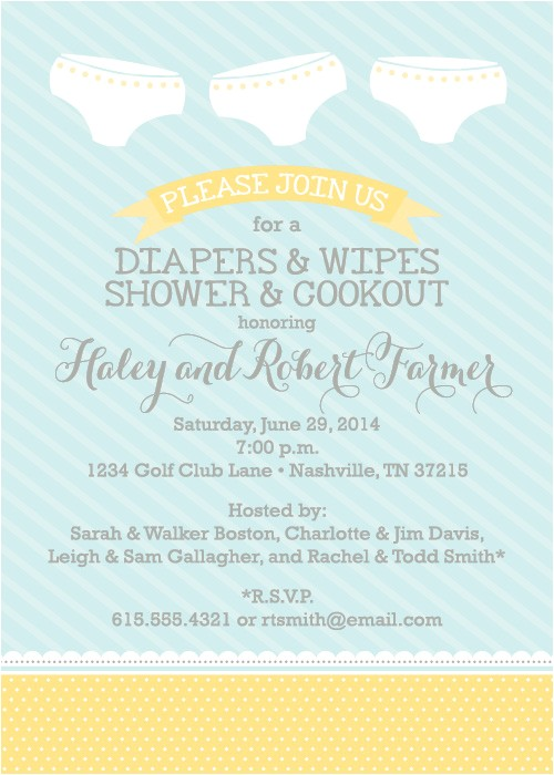 baby shower invite wording bring diapers