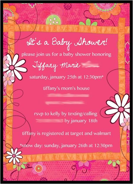 digital baby shower invite