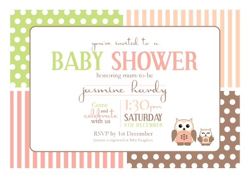 Digital Baby Shower Invitations Email Printable Baby Shower Invitation Template Spotted Owl