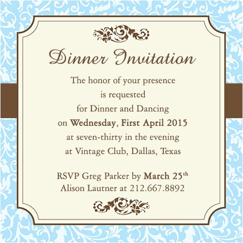 Dinner Party Invitation Examples Fab Dinner Party Invitation Wording Examples You Can Use