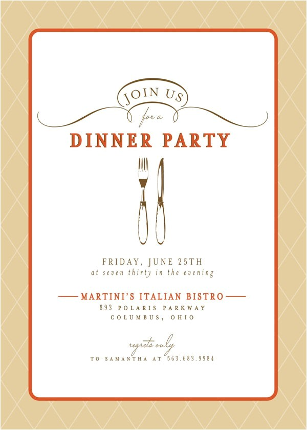 very best dinner party invitations sample ideas