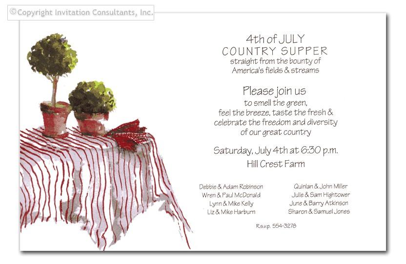 informal dinner party invitation wording