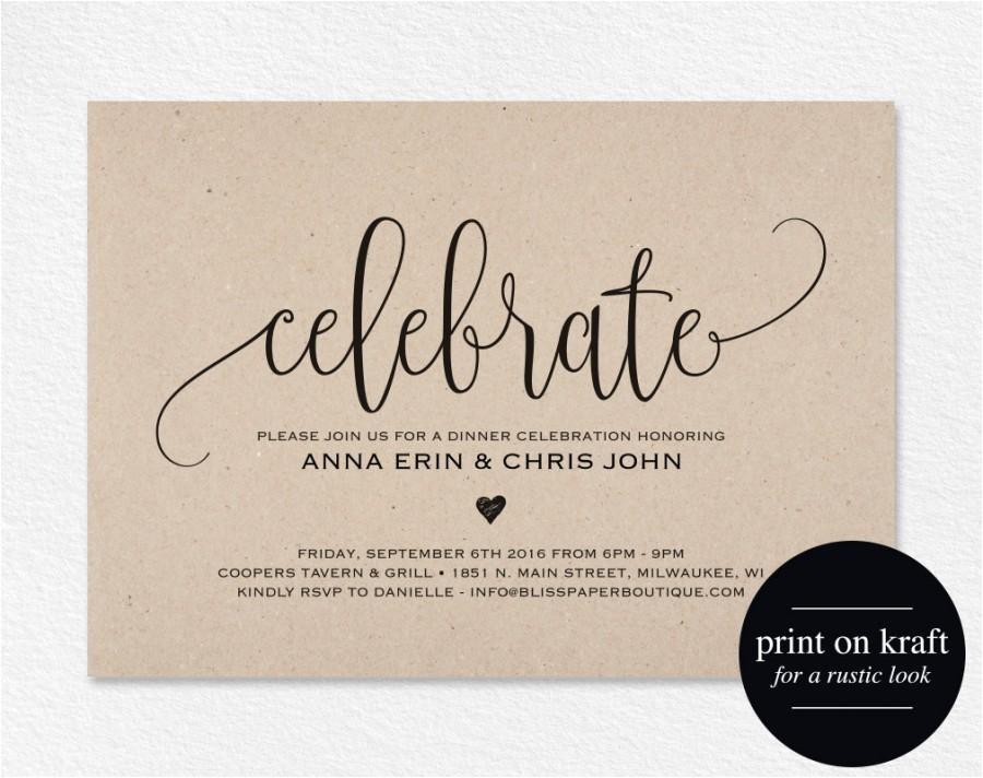 celebrate invitation printable dinner party printable party invitation wedding invitation template pdf instant bpb203 73